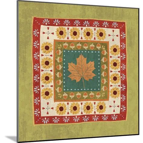 Autumn Song Tiles II-Veronique Charron-Mounted Art Print