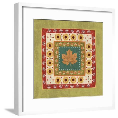 Autumn Song Tiles II-Veronique Charron-Framed Art Print