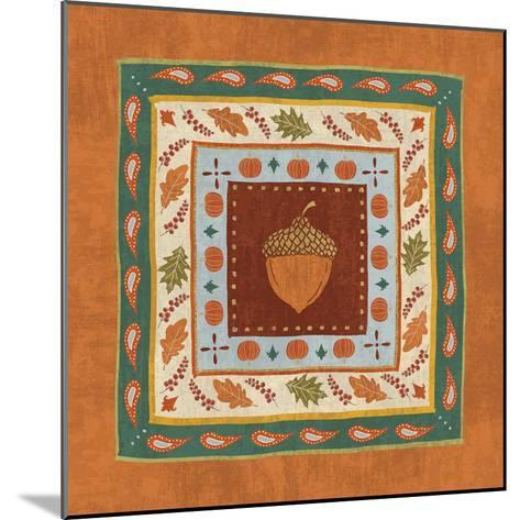 Autumn Song Tiles IV-Veronique Charron-Mounted Art Print