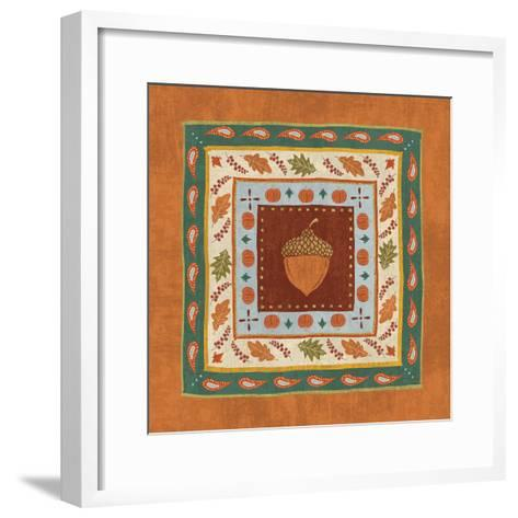 Autumn Song Tiles IV-Veronique Charron-Framed Art Print