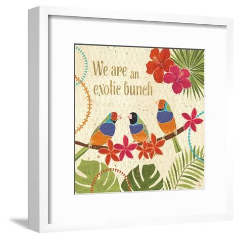 Exotic Breeze III-Veronique Charron-Framed Art Print