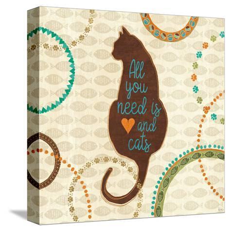 Cats Life VI-Veronique Charron-Stretched Canvas Print
