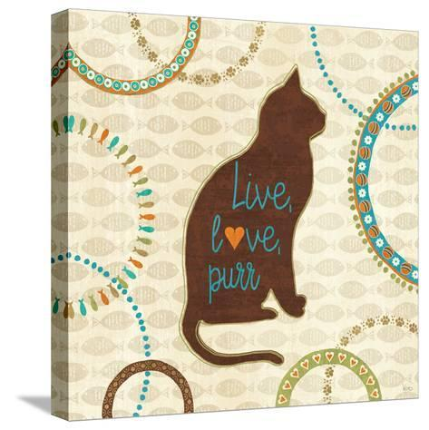 Cats Life VII-Veronique Charron-Stretched Canvas Print