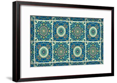 Peacock Paradise VII-Veronique Charron-Framed Art Print