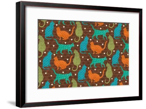 Cats Life IV-Veronique Charron-Framed Art Print