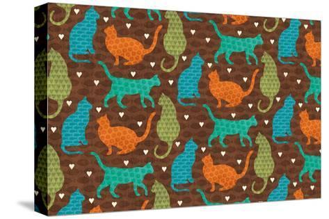 Cats Life IV-Veronique Charron-Stretched Canvas Print