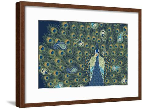 Peacock Paradise VI-Veronique Charron-Framed Art Print