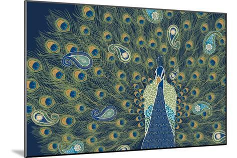 Peacock Paradise VI-Veronique Charron-Mounted Art Print