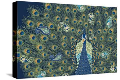 Peacock Paradise VI-Veronique Charron-Stretched Canvas Print