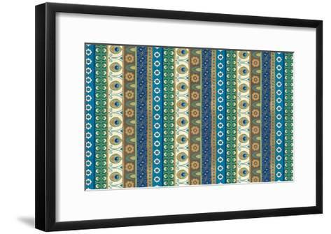 Peacock Paradise VIII-Veronique Charron-Framed Art Print