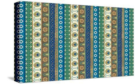 Peacock Paradise VIII-Veronique Charron-Stretched Canvas Print