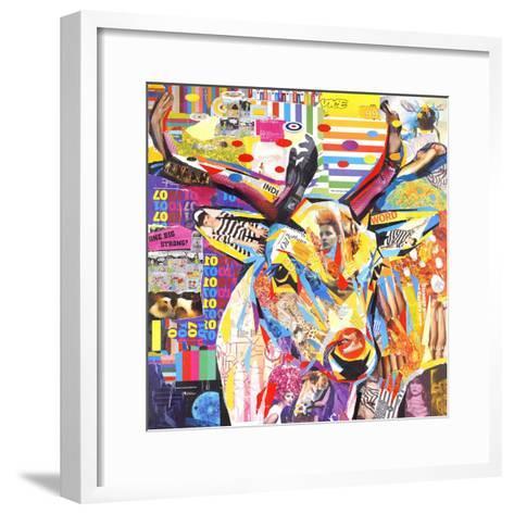 Funky Deer-James Grey-Framed Art Print