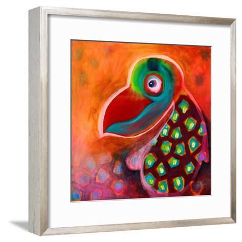 The Wise Parrot-Susse Volander-Framed Art Print