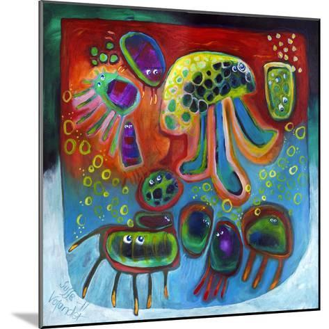 Jellyfish Party-Susse Volander-Mounted Art Print