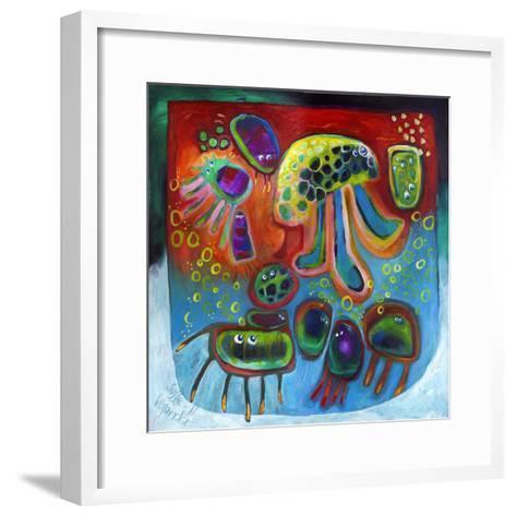 Jellyfish Party-Susse Volander-Framed Art Print
