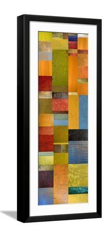 Color Panels with Green Grass-Michelle Calkins-Framed Art Print