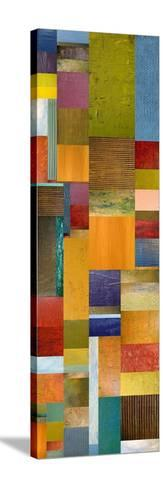 Color Panels with Olives Stripes-Michelle Calkins-Stretched Canvas Print