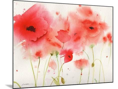 Red Poppies-Sheila Golden-Mounted Art Print