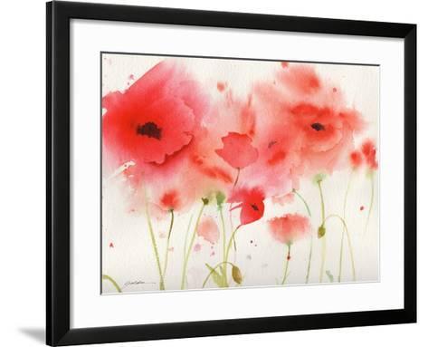 Red Poppies-Sheila Golden-Framed Art Print