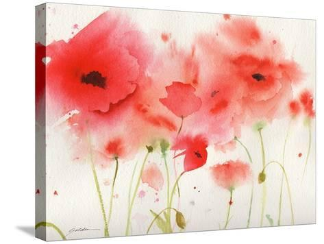 Red Poppies-Sheila Golden-Stretched Canvas Print