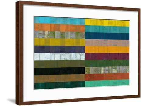 Wooden Abstract VIII-Michelle Calkins-Framed Art Print