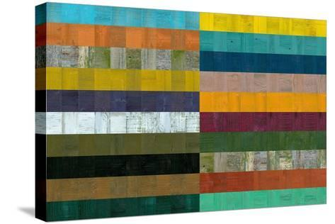 Wooden Abstract VIII-Michelle Calkins-Stretched Canvas Print