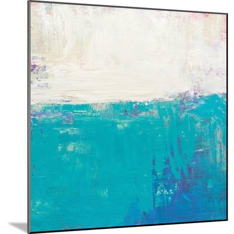 Aqua White-Don Bishop-Mounted Art Print