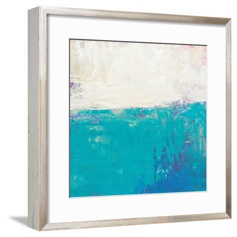 Aqua White-Don Bishop-Framed Art Print