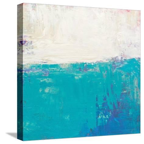 Aqua White-Don Bishop-Stretched Canvas Print
