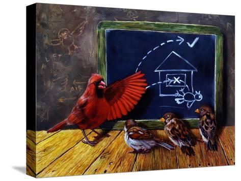 Flight School-Lucia Heffernan-Stretched Canvas Print