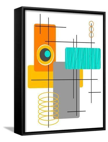 Modop in Orange-Tonya Newton-Framed Canvas Print