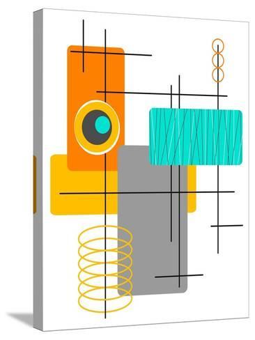 Modop in Orange-Tonya Newton-Stretched Canvas Print