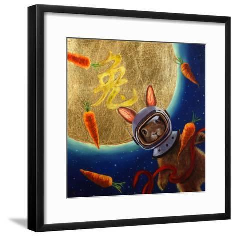 Journey to the Moon-Lucia Heffernan-Framed Art Print