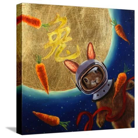 Journey to the Moon-Lucia Heffernan-Stretched Canvas Print