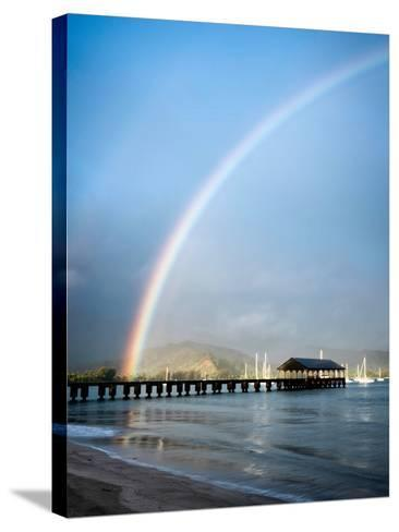 Rainbows at Hanalei II-Daniel Burt-Stretched Canvas Print