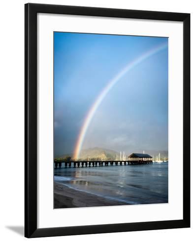Rainbows at Hanalei II-Daniel Burt-Framed Art Print