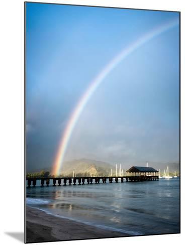 Rainbows at Hanalei II-Daniel Burt-Mounted Photographic Print
