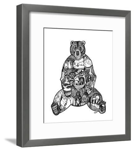 Goodbye Bear-Liz Ash-Framed Art Print