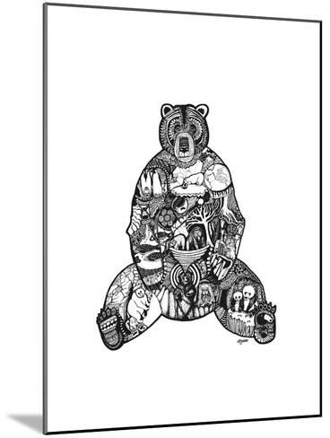 Goodbye Bear-Liz Ash-Mounted Art Print