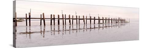 Vintage Pier at Fishing Village-Alan Blaustein-Stretched Canvas Print