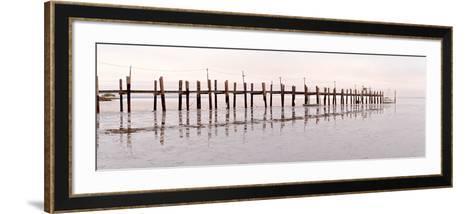 Vintage Pier at Fishing Village-Alan Blaustein-Framed Art Print
