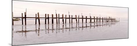Vintage Pier at Fishing Village-Alan Blaustein-Mounted Photographic Print