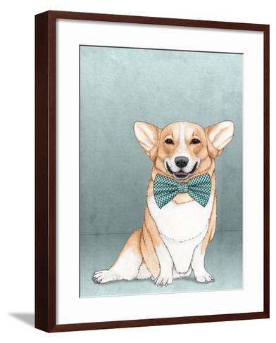 Corgi Dog-Barruf-Framed Art Print