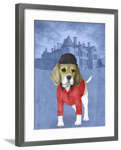 Beagle with Beaulieu Palace-Barruf-Framed Art Print