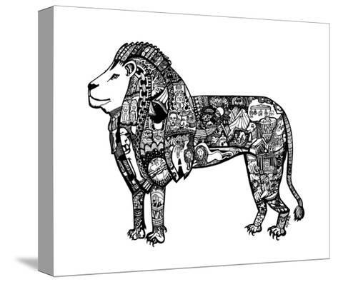 Goodbye Lion-Liz Ash-Stretched Canvas Print