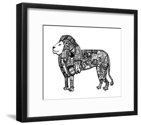 Goodbye Lion-Liz Ash-Framed Art Print