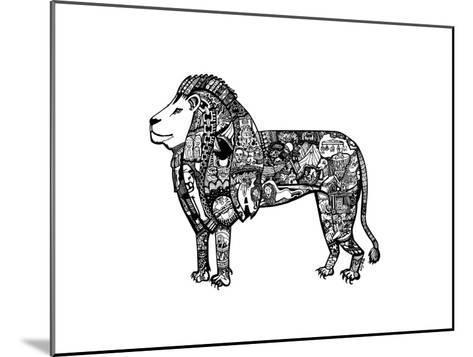 Goodbye Lion-Liz Ash-Mounted Art Print