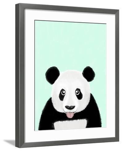 Cute Panda-Barruf-Framed Art Print