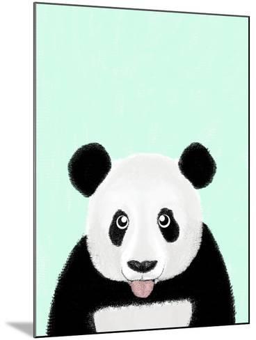 Cute Panda-Barruf-Mounted Art Print