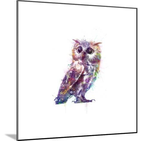 Owl-VeeBee-Mounted Art Print